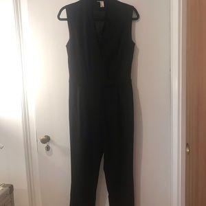 F21 awesome tuxedo black jumpsuit